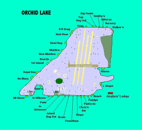 orchid lake feature map Orchid Fishing Lakes orchid lake feature map