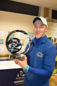Tom Lane with his winner's trophy