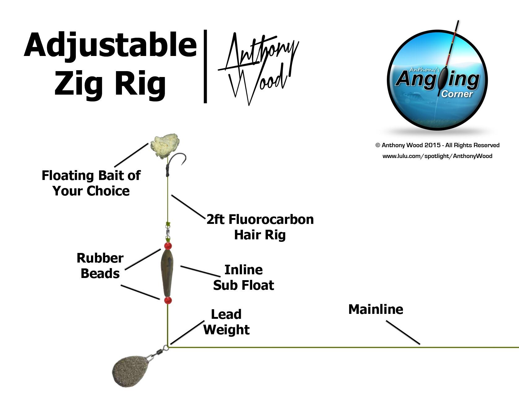 adjustable zig rig fishing anglers 39 net. Black Bedroom Furniture Sets. Home Design Ideas